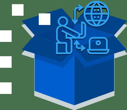 freelancer using tools on cloud desktop